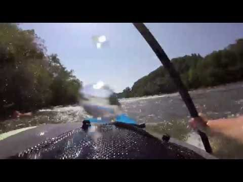 Go Pro: learning to stern squrit at ledges whitewater park