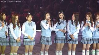 KCON 2016 France - I.O.I - Talk Session [20160602][FANCAM]
