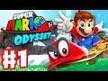 Super Mario Odyssey - Gameplay Walkthrough Part 1 - Cap and Cascade Kingdom! (Nintendo Switch)