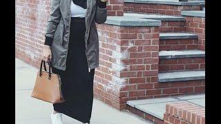 أفكار لتنسيق الجاكيت والتنانير  Jacket & maxi skirt hijab outfits ideas