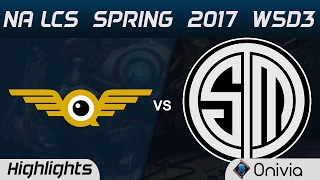 FLY vs TSM Highlights Game 3 NA LCS Spring 2017 W5D3 FlyQuest vs Team Solo Mid