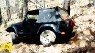 Cartoon - 4x4 Adventure - Jeep Wrangler doing it alone @ Lancruiser Mountain Park - Trailer