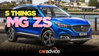 2018 MG ZS: 5 things about MG