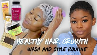 IM GROWING MY HAIR BACK! | TWA Wash Day Routine For Fast, Healthy Hair Growth!