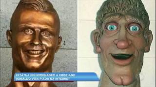 Hora da Venenosa: estátua em homenagem a Cristiano Ronaldo vira piada na internet