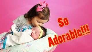 Adorable Big Sister Sings To Sleeping Sibling Baby || Best Babies - MUST SEE!