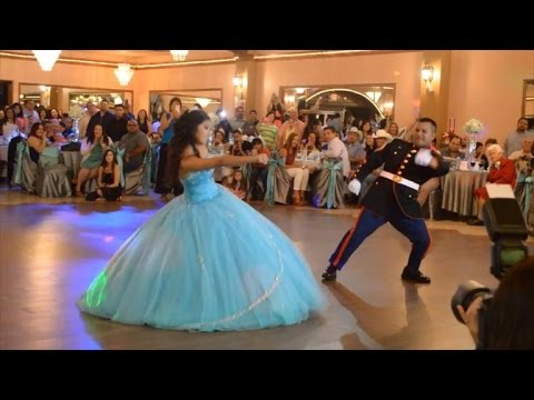 Xxx Mp4 Military Dad And Daughter Do Amazing Dance During Quinceanera 3gp Sex