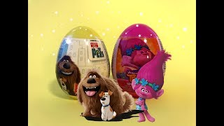 Trolls Movie and The Secret Life of Pets Surprise Eggs