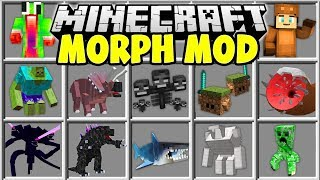 Minecraft MORPH MOD | SHAPE SHIFT INTO ANY MINECRAFT BOSS OR YOUTUBER!!