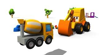 Excavadoras - Camión mezclador de cemento - Max el Excavador