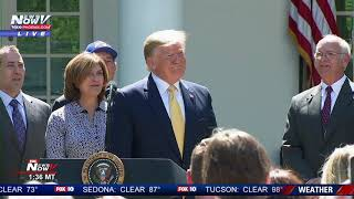 HAPPY BIRTHDAY, MR. PRESIDENT: Trump serenaded during Rose Garden newser