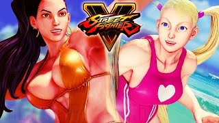 Street Fighter 5 - Laura vs R.Mika (Swimsuit Battle) Gameplay PC Mods @ 1080p (60fps) HD ✔