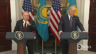 Pres. Donald Trump, Kazakhstan President Nursultan Nazarbayev  hold joint news conference | ABC New