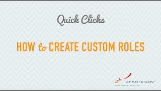 Quick Clicks: How to Create Custom Roles