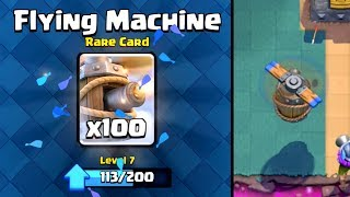 Clash Royale - FLYING MACHINE! New Card Challenge