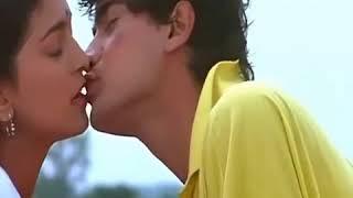 AAMIR KHAN KISSING JUHI CHAWLA