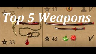 Shadow Fight 2 TOP 5 Weapons!