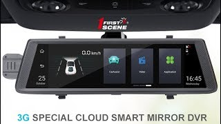 Firstscene C19 - 10inch 3G Mirror use Android 5.1 OS support GPS Dual Cameras Recording