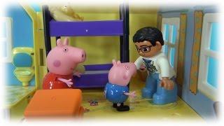 Peppa Pig en français ♥ George mange bonbons. George a mal aux dents. Peppa Cochone appelle médecin
