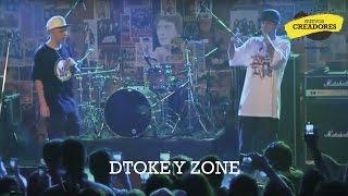 Dtoke y Zone en el escenario de Club en Vivo