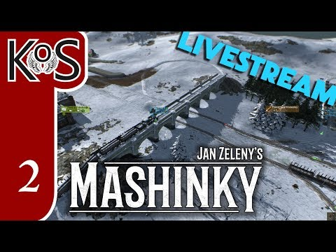 KoS LIVESTREAM - Mashinky, Part 2b - HARD MODE - Alpha First Look - Gameplay