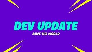 Save The World Dev Update (12/4)