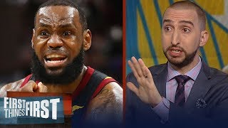 Nick Wright on LeBron's keys for Cavs to beat KD's Warriors | NBA | FIRST THINGS FIRST