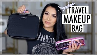 WHATS IN MY TRAVEL MAKEUP BAG? || EVETTEXO