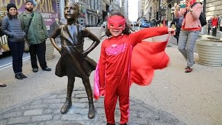 Statue of a Fearless Girl Is Now Facing Off the Wall Street Bull