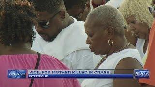 Dozens attend vigil for Fayetteville mom who died after crash