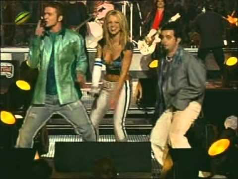Aerosmith, Nsync, Britney Spears, Mary J. Blige & Nelly - Walk this way (live in the Superbowl).mpg