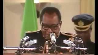 Le Maréchal Mobutu annonce le retour du multipartisme au Zaïre