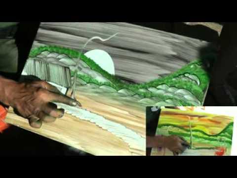 Artista pinta quadros com os dedos Arcos mg