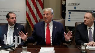 Watch: Trump speaks about Syria, impeachment inquiry during Cabinet meeting