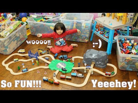 Toy Trains and Power Tools Playset. Thomas & Friends Chuggington and Imaginarium Train Set
