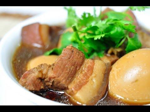 Thai Food - Sweet Stew Egg and Streaky Pork Kai (Palo Moo Sam Chan)