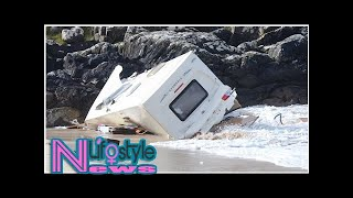 TG4 apologises after clip shows caravan kicked off cliff