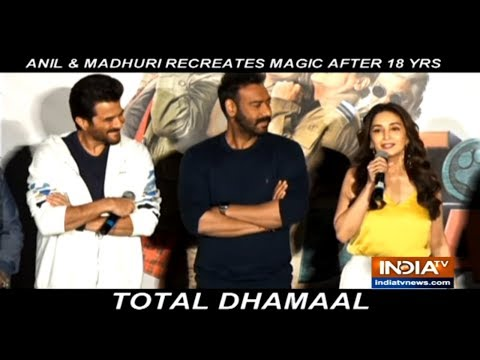 Xxx Mp4 Ajay Devgn Anil Kapoor Madhuri Dixit And Arshad Warsi Launch The Trailer Of Total Dhamaal 3gp Sex
