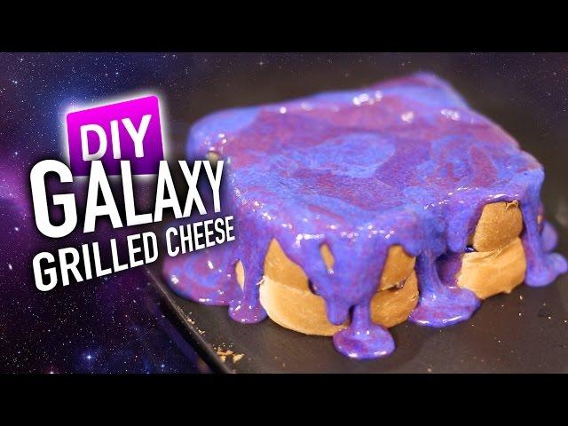DIY GALAXY Grilled Cheese *MIRROR CHEESE GLAZE*