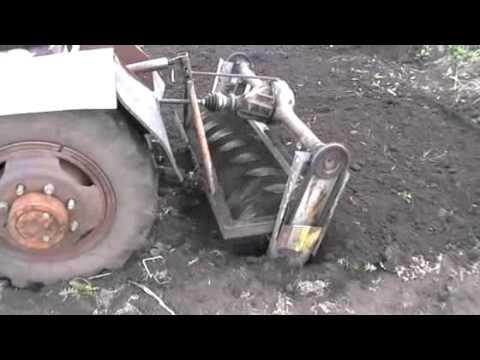 Почвофреза для минитрактора своими руками видео