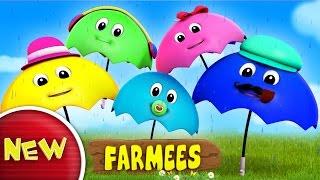 Umbrella Finger Family | Rain Rain Go Away | Nursery Rhymes Farmees | Baby Songs