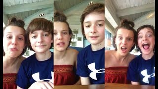 Millie Bobby Brown and Noah Schnapp Livestream / May 2017