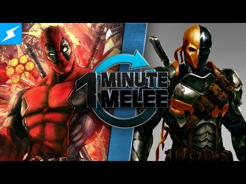 One Minute Melee Deadpool vs Deathstroke Marvel vs DC