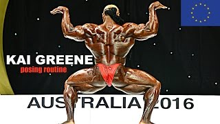 Kai Greene (HD) Posing  | AC Australia 2016 (for germany/europe)