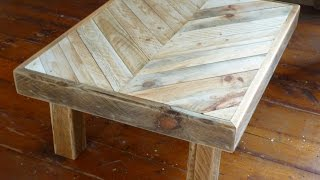 Tweakwood: Making a coffee table out of recycled pallet wood