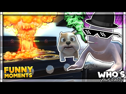 BABY AND DADDY TRY TO COOK PET DOGGO IN THE NEW UPDATE Who s Your Daddy Funny Moments 70