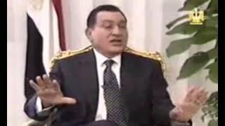 خطيييير | مبارك بيهزأ مذيع اسرائيلي قال له لم نسمع عنك في حرب اكتوبر