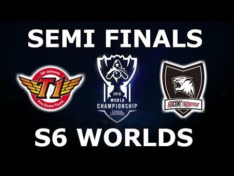 SKT vs ROX - Semi Finals S6 LoL eSports World Championship 2016! SK Telecom T1 vs Rox Tigers