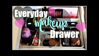 Makeup Collection - Everyday Makeup Drawer | December 2015