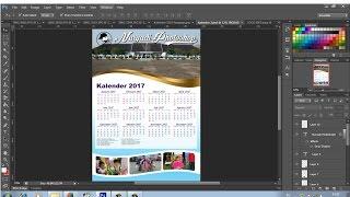cara desain kalender 2017 dengan photoshop